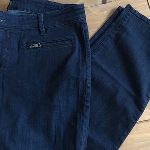 Ann Taylor super skinny curvy fit dark jeans 33/16